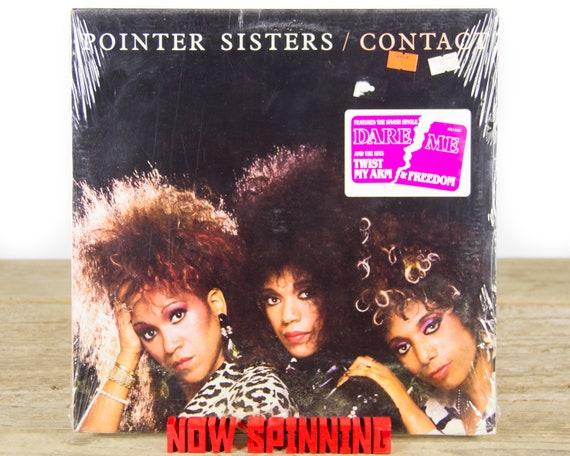 """Vintage Factory Sealed Pointer Sisters """"Contact"""" Vinyl 12"""" Album LP (1985) / 33 Vinyl LP Records / Electronic Funk Soul Rock Pop"""