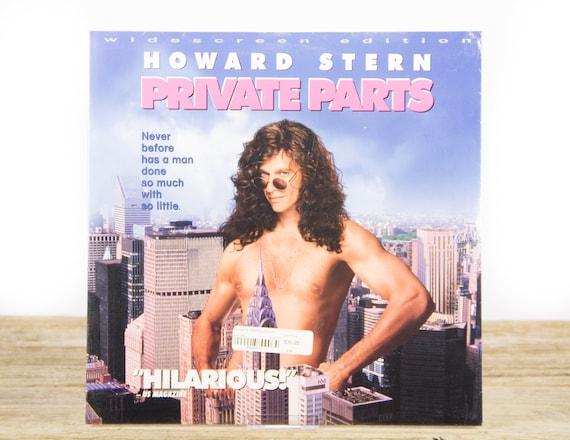 Vintage 1997 SEALED Howard Stern Private Parts Movie / Vintage Laser Disc Movies / Movie Theater Decor / Movie Room Decor / 90s Decor