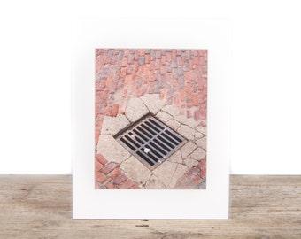 Original Fine Art Photography / Unique Photography / Red Brick Street / Signed Photography / Photography Prints / Color Photography
