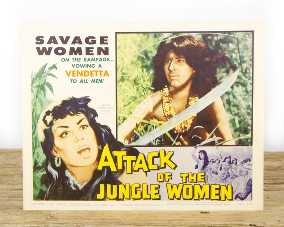 Attack of the Jungle Women - Original 11x14 Movie Lobby Card from 1959 (59/194) - Movie Theater Room Decor Collectible - Adventure