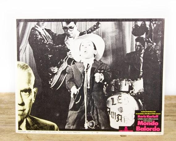 Boris Karloff Mondo Balordo - Original 11x14 Movie Lobby Card from 1967 (67/117) - Movie Theater Room Decor Collectible