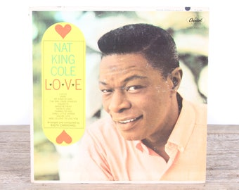 Vintage Nat King Cole Record - Love / Capitol Vinyl Records / Antique Vinyl Records / Old Records Music Party Decor / Rock Country Pop