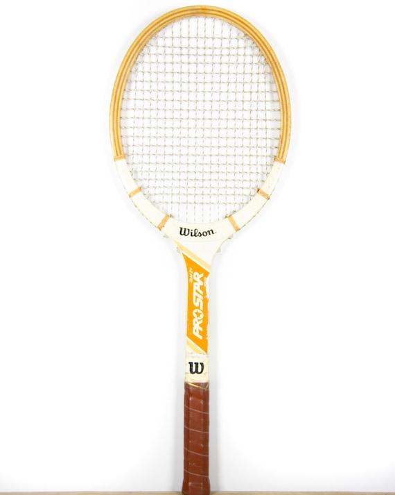 Vintage Wilson Pro Star GLM24 Wooden Tennis Racquet / Antique Wood Tennis Racket / Sports Decor