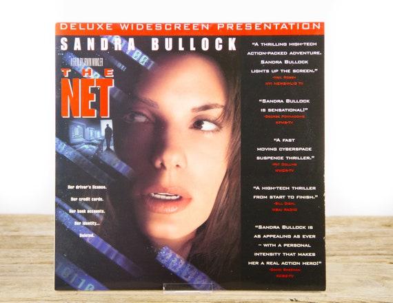Vintage 1995 The Net LaserDisc Movie / Vintage Laser Disc Movies / Movie Theater Decor / Movie Room Decor Movie Posters / 90s Decor
