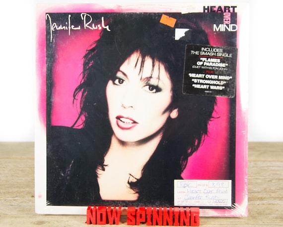 "Vintage Factory Sealed Jennifer Rush ""Heart Over Mind"" (1987) Vinyl 12"" Album LP / Antique 33 Vinyl Records / Rock Pop"