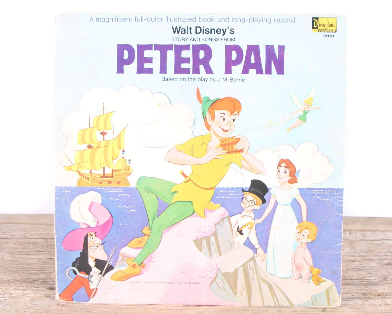 Peter Pan Disney Storybook LP #3910