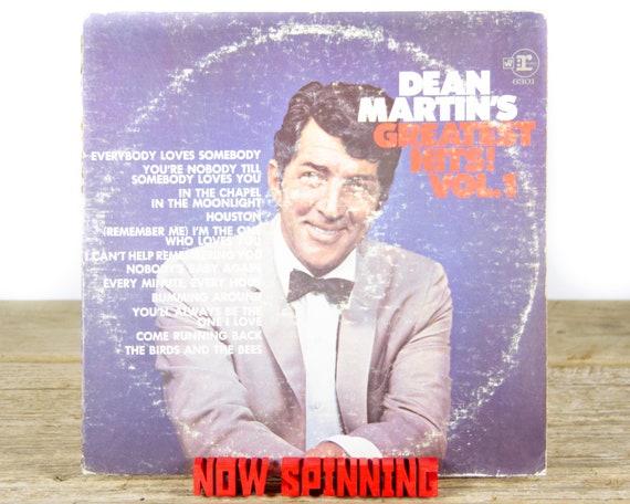 "Vintage Dean Martin ""Dean Martin's Greatest Hits Vol. 1"" (1968) Vinyl Record / Antique Records / Old Records / Ballard / Jazz / Pop"