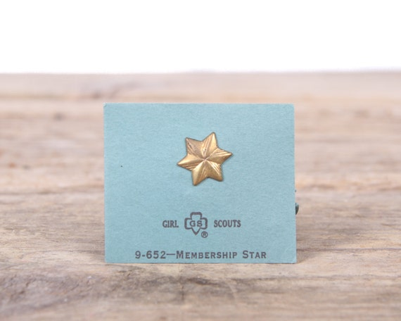 """Scout Pin / 1970's Girl Scouts Membership Star Pin 9-652 / 1/2"""" Collectible Pin / Scout Pin / Vintage Scout Pin / Old Scout Pin"""