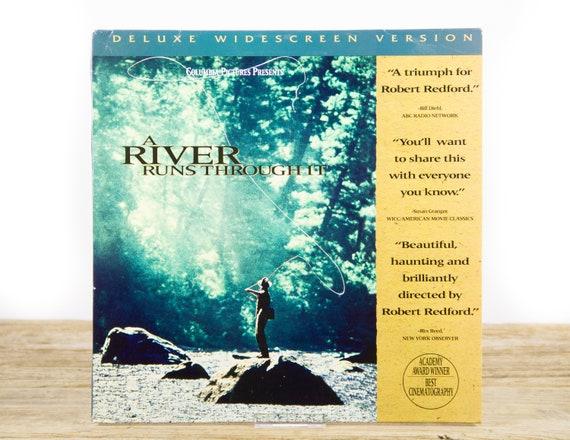 Vintage 1992 A River Runs Through It LaserDisc Movie / Vintage Laser Disc Movies / Movie Theater Decor / Movie Posters / 80s Decor