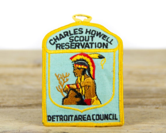 """Vintage Boy Scouts of America Charles Howell Scout Reservation Detroit Area Council Patch / BSA 3"""" Scout Patch"""