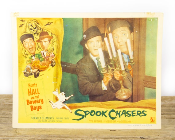 Spook Chasers Horror Movie - Original 11x14 Movie Lobby Card from 1957 (57/324) - Movie Theater Room Decor Collectible - Horror Skull