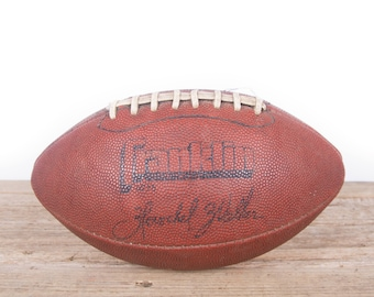Vintage Leather Football / Football Decor / Old Football / Franklin Herschel Walker Antique Football / NFL Football / Game Room Sports Room