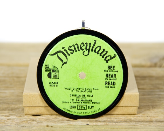 Vintage Walt Disney's Story Of The 101 Dalmatians Record Christmas Ornament from 1965 / Holiday Decor Christmas Gift / Disney Ornament
