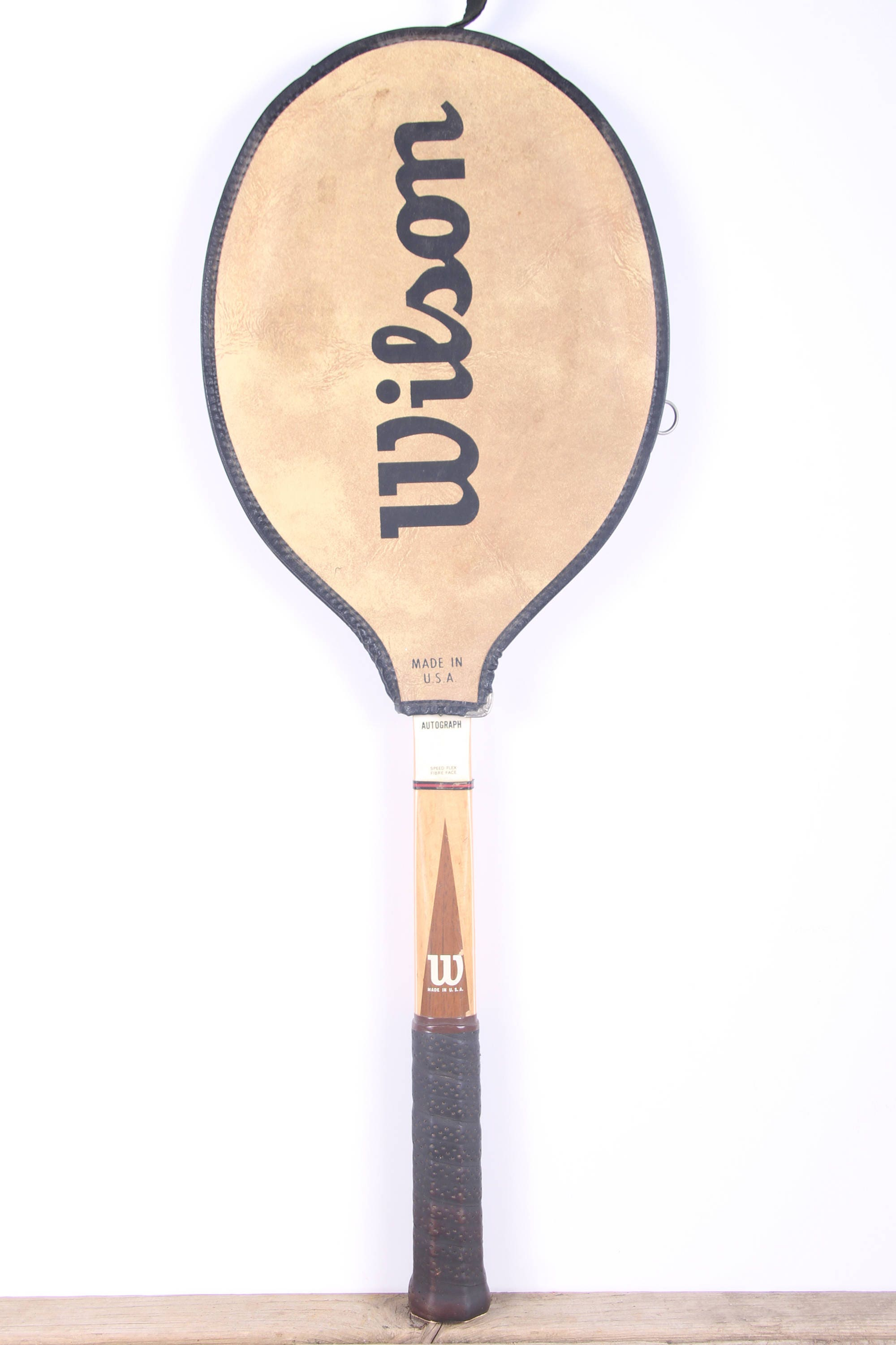 premium selection 69c8d 59ec5 Vintage Wooden Tennis Racket / Wilson Stan Smith ...