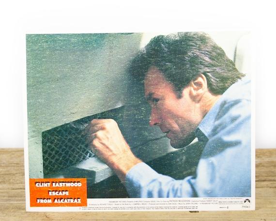 "Clint Eastwood Escape From Alcatraz Original Movie Lobby Card from 1979 - Original 11""x14"" Lobby Card - Movie Theater Room Decor Collectible"