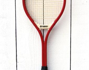 Vintage Yamaha Tennis Racket / Yamaha Fiberglass Racket / YFG 30 Antique Tennis Racket / Wooden Racket / Wood Tennis Racket