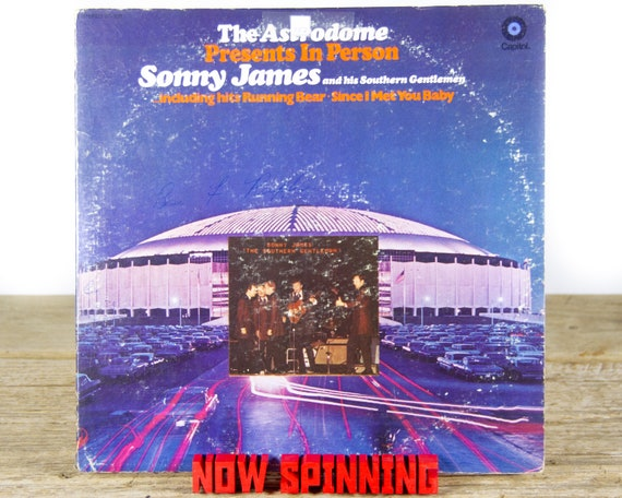 """Vintage Sonny James And The Southern Gentlemen """"The Astrodome"""" LP Record Album 1969 / Vinyl Record / 33 Vinyl Records / Country Folk Music"""