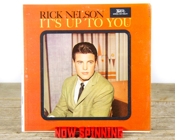 """Vintage Rick Nelson """"It's Up To You"""" (1962) Vinyl Record / Rock / Pop Rock / Antique Records / Old Records"""