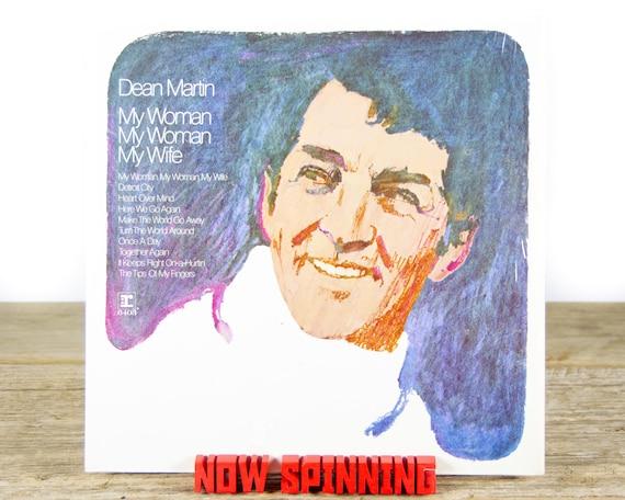 "Vintage Dean Martin ""My Woman, My Woman, My Wife"" (1970) Vinyl Record / Antique 33 Vinyl Records / Old Records / Ballard / Jazz / Pop"