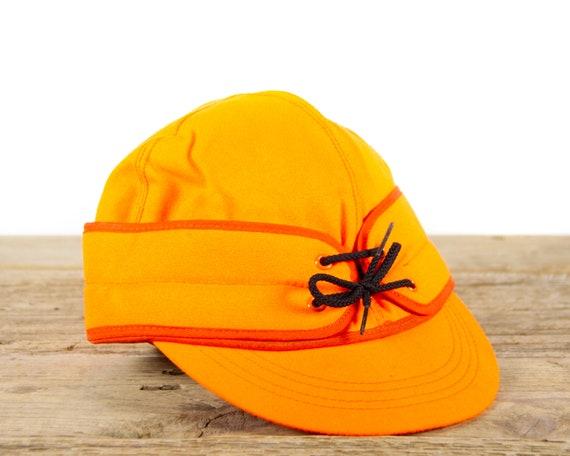 "Vintage Orange Hunting Cap size 7 3/8"", Hunting Gear"