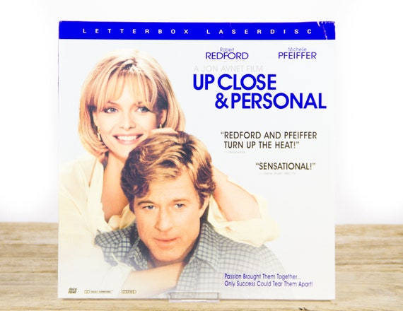 Vintage 1996 Up Close and Personal LaserDisc Movie / Vintage Laser Disc Movies / Movie Theater Decor / Movie Posters / 90s Decor
