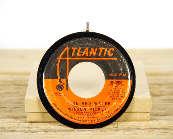 """Vintage Wilson Pickett """"Fire And Water"""" Record Christmas Ornament from 1971 / Holiday Decor / Music Gift Present / Funk, Soul"""