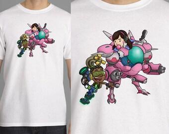 "Overwatch T-Shirt - ""D.Va & Lucio"""