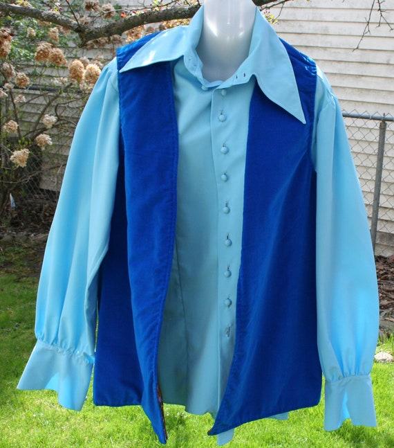 1970s Pants Shirt Vest - image 2