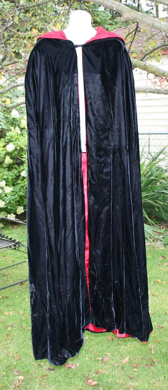 Black Velvet Cape Costume Hood