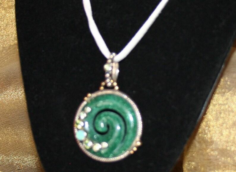 Aventurine Pendant Green Fire Opal