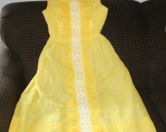 Vintage Dress Yellow Irving Mack 1960s