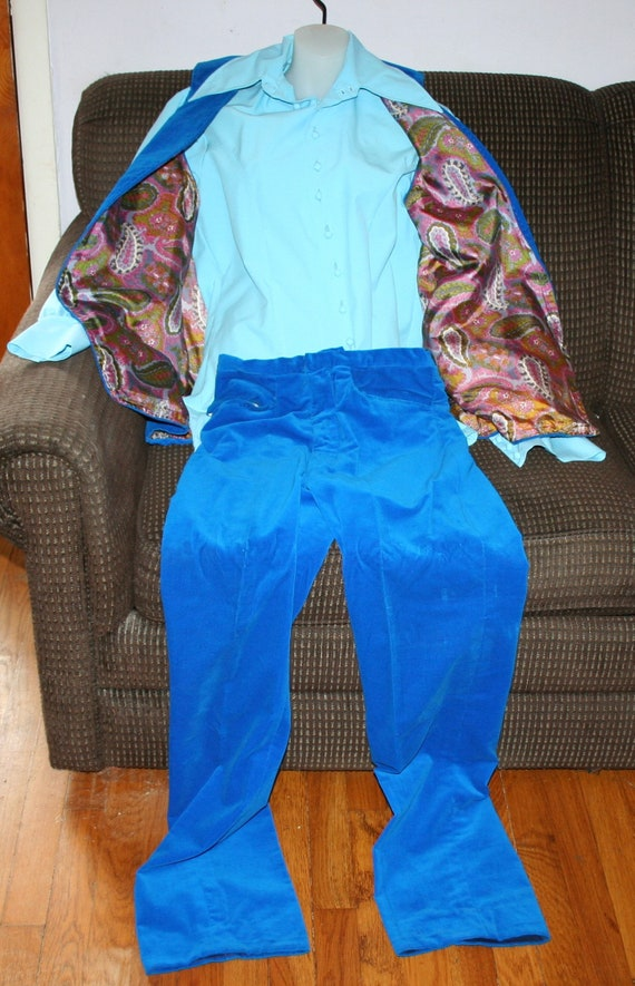1970s Pants Shirt Vest - image 3