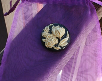 Vintage Brooch 1950s West Germany Acrylic