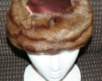 Vintage Mink Hat Cap 1950s