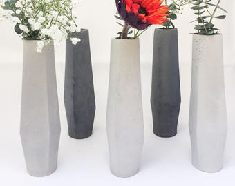 Concrete vase | Etsy on single flower bouquet ideas, black flower vase ideas, flower vase design ideas, single rose bouquet ideas, single flower girl ideas, single fruit plate ideas, single hat rack ideas, flower arrangement ideas, bridal shower flower centerpiece ideas, old flower vase ideas, single flower vase clipart, single flower with stem,