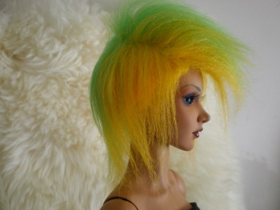 8-9 NEW Doll Wig Crimped Snow White BJD Ball Jointed Doll Size 6-7