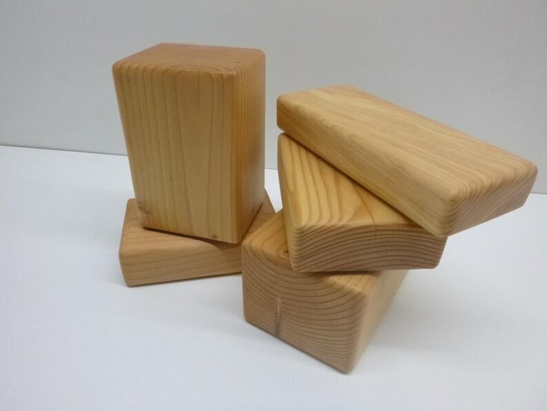 Yoga Block Custom Sizes Availalbe / Solid Reclaimed Wood / image 0