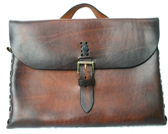 Leather Attache/ Messenger / Laptop Bag