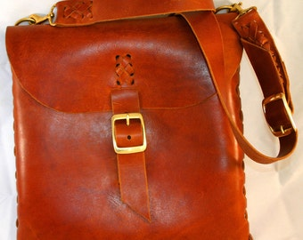 Leather Messenger / Laptop Bag