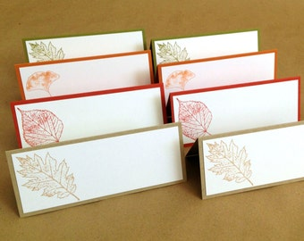 Thanksgiving Place Cards - Fall Place Cards - Fall Wedding - Leaf Seating Assignments - Thanksgiving Table Decor - Thanksgiving Labels