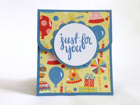 Birthday Gift Card Holder Money Holder Happy Birthday Card Etsy