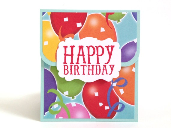 Birthday Gift Card Holder Birthday Money Envelope Party Etsy