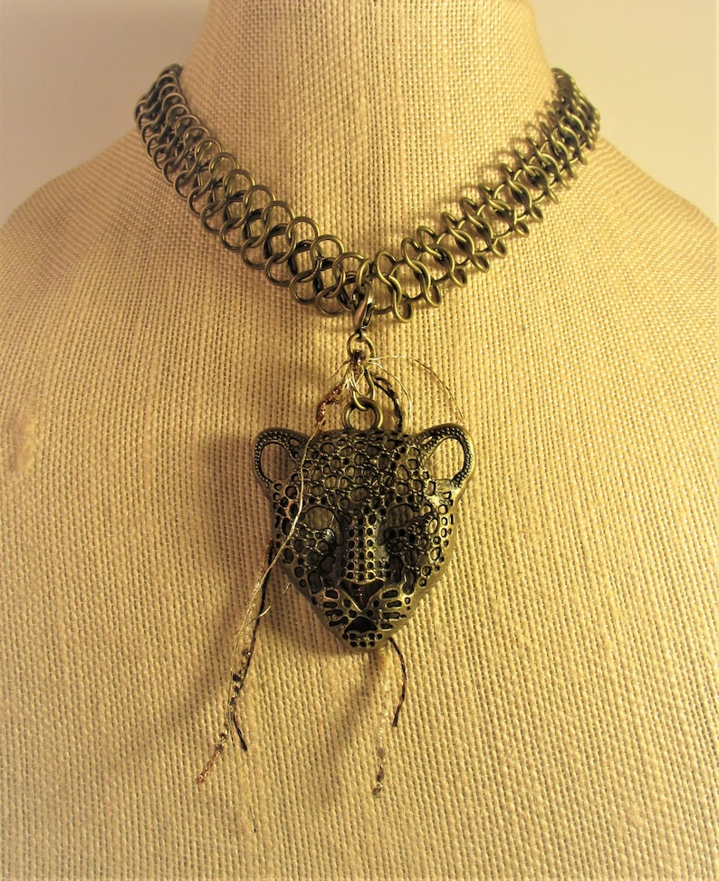 Leopard Head Stringed Necklace