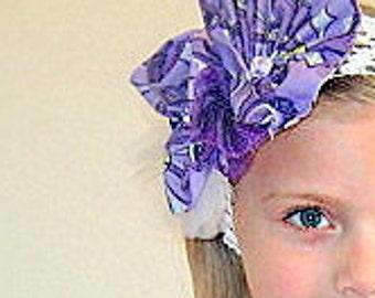 Clearance sale ,Purple flower girl headband , Purple headband,  white headband , fancy headband