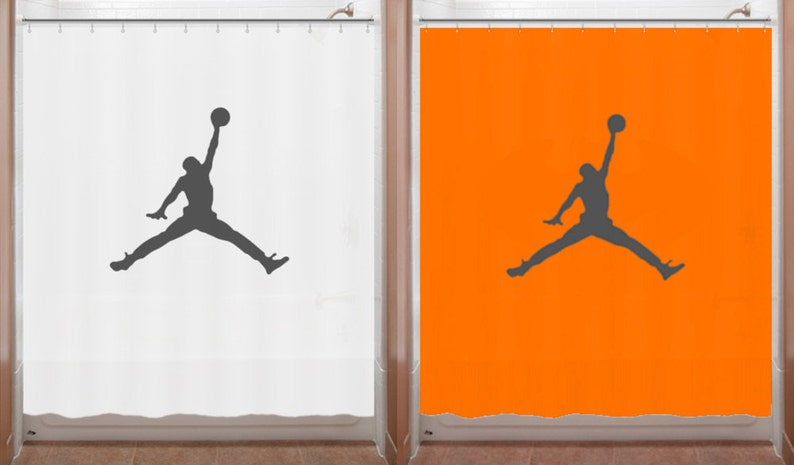 Basketball Shower Curtain Air Jordan Jumpman Bathroom Decor