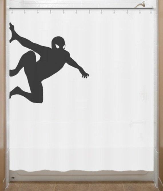 Hanging Spiderman Shower Curtain Bathroom Decor Bath Kids