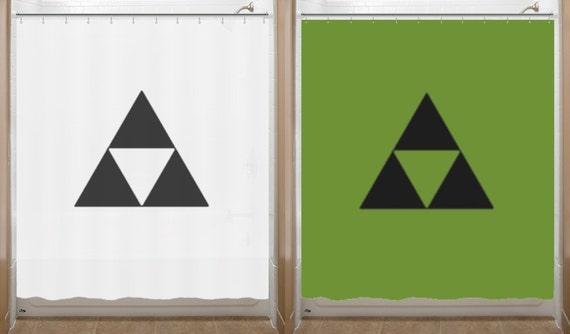 Legend Of Zelda Shower Curtain Triforce Bathroom Decor Bath