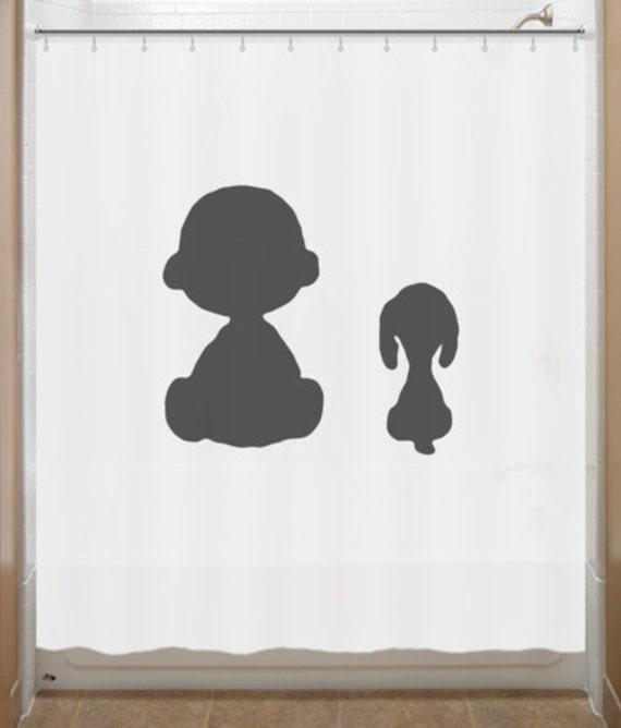 Snoopy Shower Curtain Charlie Brown Peanuts Bathroom Decor