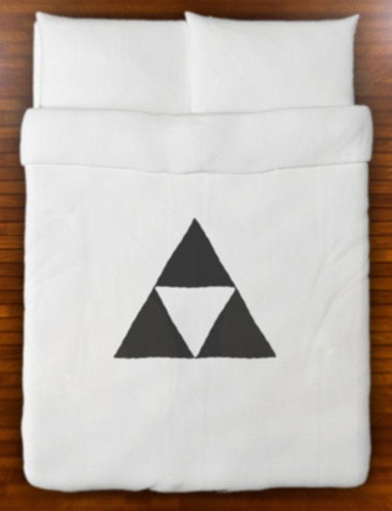 Légende De Zelda Triforce Couette Couverture Literie Reine Roi Twin Taille Pleine Double Ensemble De Draps De Coton