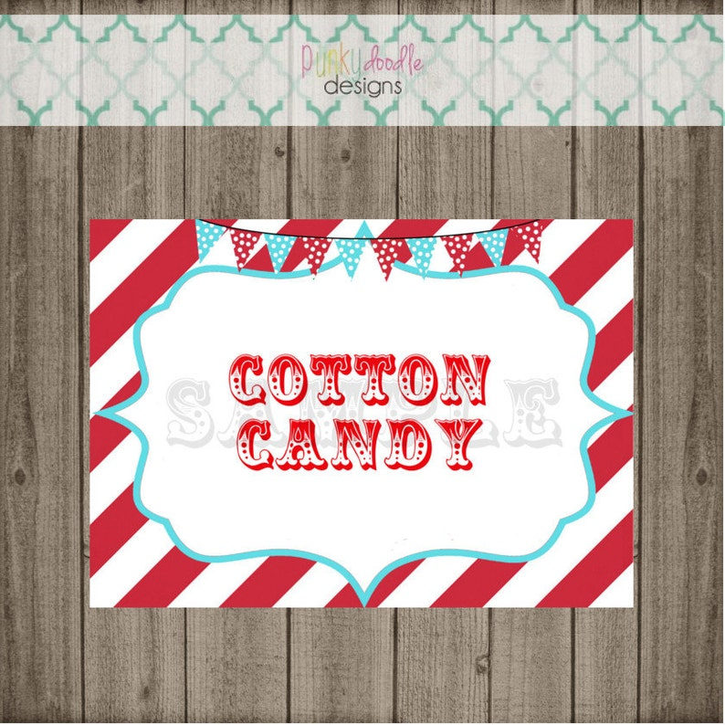 Custom Carnival Party Signs Circus